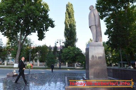 Azərbaycan Prezidenti İlham Əliyev İsmayıllı rayonuna səfərə gəlib